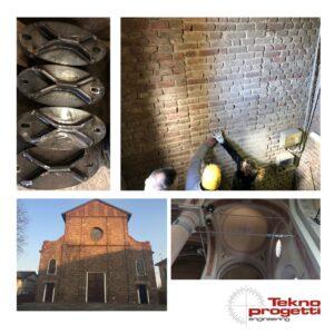 Chiesa di Linate al Lambro - lavori di riduzione rischio sismico diretti da TeknoProgetti Engineering s.r.l.
